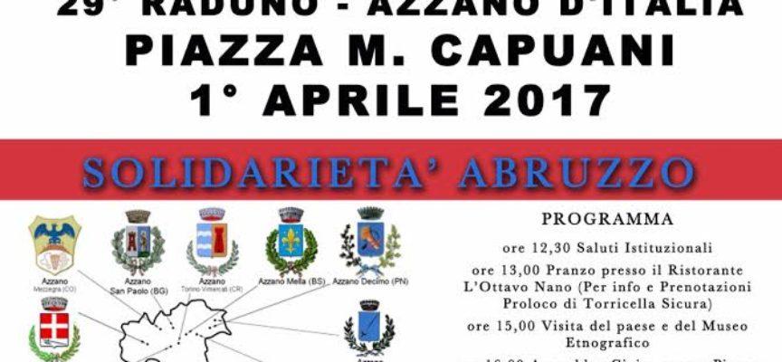 """29° RADUNO """"AZZANO D'ITALIA"""" NELLE ZONE TERREMOTATE: UNA DELEGAZIONE ANCHE DA SERAVEZZA"""