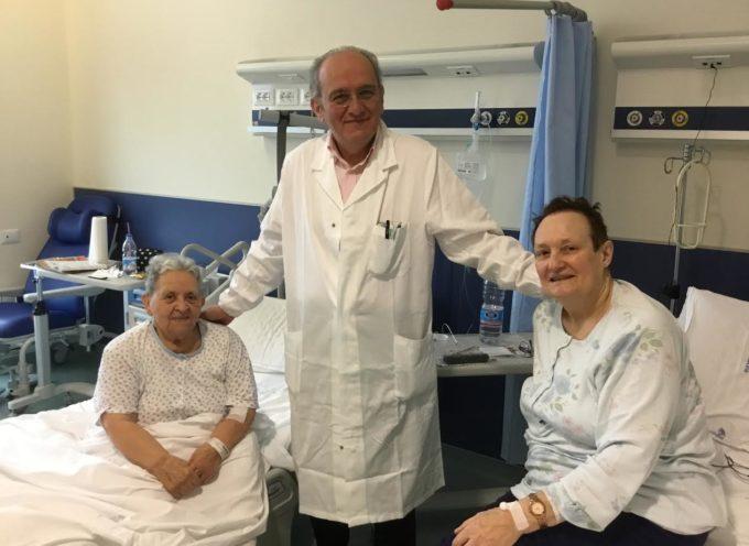 Grazie al personale dell'Ortopedia da due pazienti sottoposte a complessi interventi all'ospedale San Luca