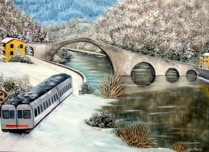 Il Ponte del Diavolo scenario per la degustazione di prodotti tipici; Borgo a Mozzano