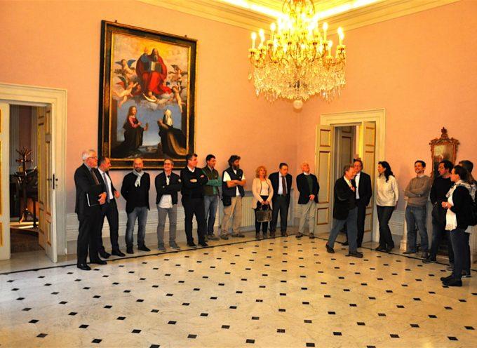 G7 DEI MINISTRI DEGLI ESTERI A LUCCA: sopralluogo delle autorità locali  nella sale di Palazzo Ducale oggetto di sistemazione e restyling