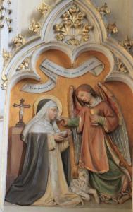 Friesach_-_Dominikanerkirche_-_Hochaltar_-_Hl_Agnes_von_Montepulciano-189x300