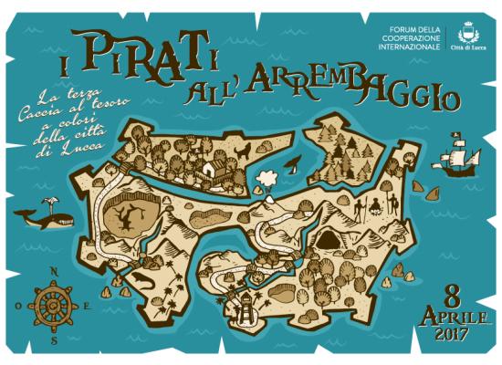 I pirati all'arrembaggio: sono già 12 le squadre pronte a gareggiare sabato 8 aprile nella Caccia al tesoro della città di Lucca