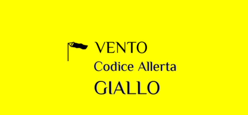 CODICE GIALLO per vento in  LUCCHESIA