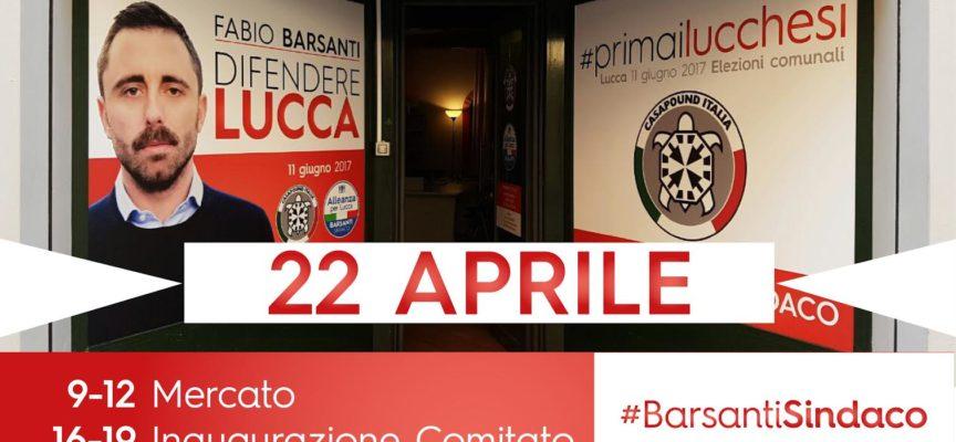 Sabato 22 aprile CasaPound inaugura il comitato elettorale. Presente il candidato sindaco Barsanti.