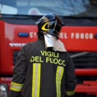 incendio ieri sera in localita' Luciani nel comune di Montecarlo,