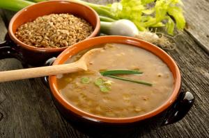 spelt soup - zuppa di farro