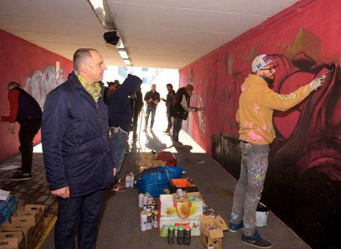 Good news per la città di Capannori: oggi i nostri writers iniziano ad abbellire il sottopasso di Paganico