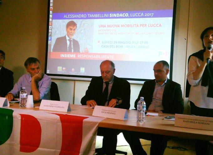 Il Ministro Graziano Delrio ieri era a Lucca per sostenere la mia ricandidatura a sindaco della città.