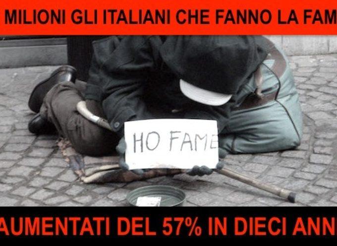 5 MILIONI DI ITALIANI NON RIESCONO A PORTARE IL PIATTO A TAVOLA – SVEGLIA!