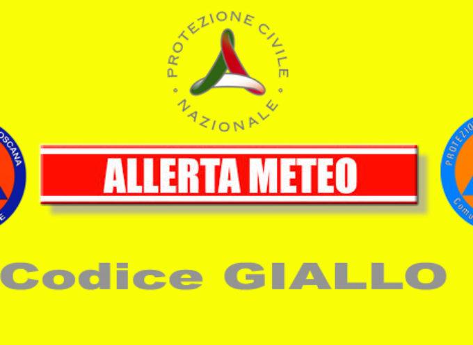 codice giallo per rischio idrogeologico idraulico reticolo minore dalle 8:00 alle 24:00 di domenica 10 febbraio.