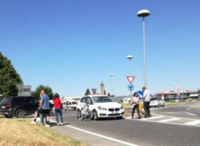 Auto contro bici ad Antraccoli; grave cicloamatore