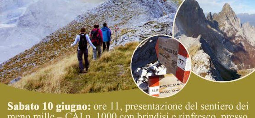 Inaugurazione del sentiero CAI 1000 il 10 e 11 giugno a Minucciano. E' il primo sentiero speleologico CAI in Italia.