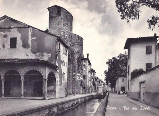 LA Via dei Fossi – a  Lucca.
