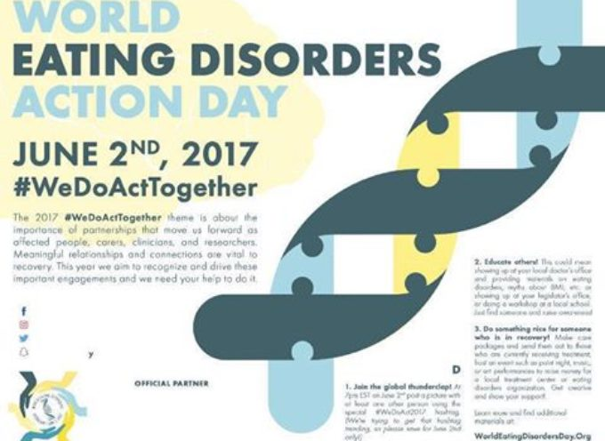 """ANCHE A LUCCA IL """"WORLD EATING DISORDERS ACTION DAY"""""""