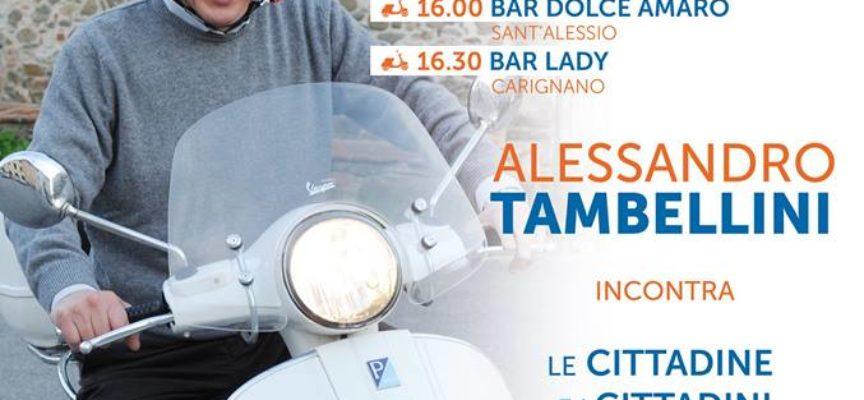 ALESSANDRO TAMBELLINI SABATO 3 GIUGNO  IN TOUR CON LA VESPA