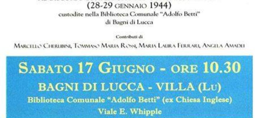 """Presentazione del Libro: """"La Libertà italiana nella Libertà del mondo"""" ..  A BAGNI DI LUCCA"""