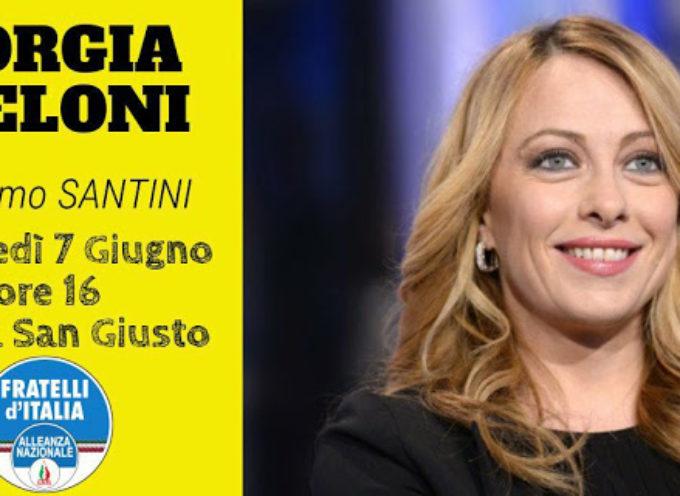 Giorgia Meloni sarà a Lucca per sostenere REMO SANTINI