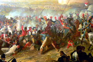 La-Battaglia-di-Waterloo-in-un-dipinto-di-Denis-Dighton-1816