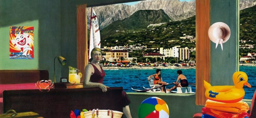 "PIETRASANTA: LA GALLERIA DALIANO RIBANI ARTE PRESENTA ""SPAGHETTIHOPPER"" DI JAMES MACFARLANE, COLLAGES ISPIRATI DALLE OPERE DI EDWARD HOPPER"