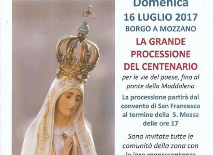 La GRANDE PROCESSIONE, DOMENICA 16 LUGLIO A BORGO A MOZZANO
