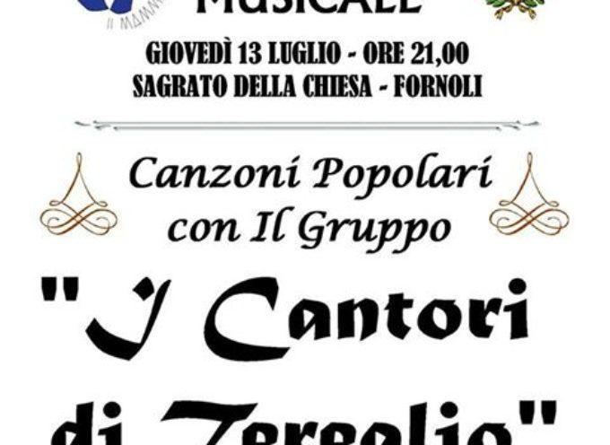 SERATA MUSICALE a Fornoli, giovedi 13 luglio