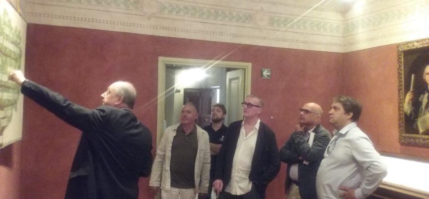 Guy Cogeval del Musée d'Orsay di Parigi stamani in visita a Lucca
