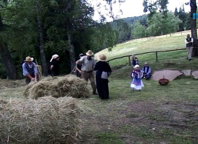 L'antica raccolta del fieno rievocata all'Orecchiella [video]