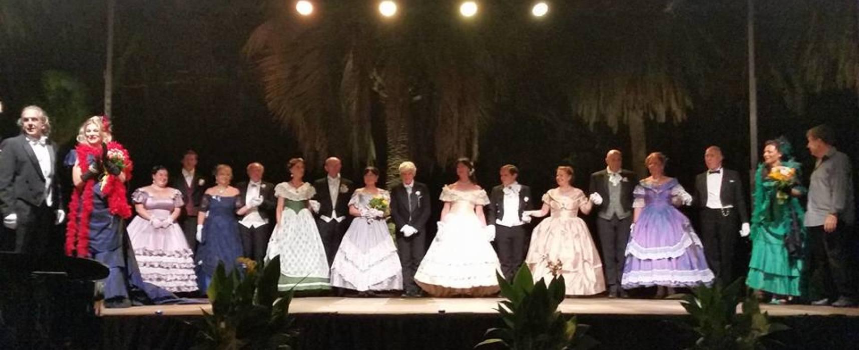 Successo di pubblico e di spettacolo per la grande lirica a Villa Borbone