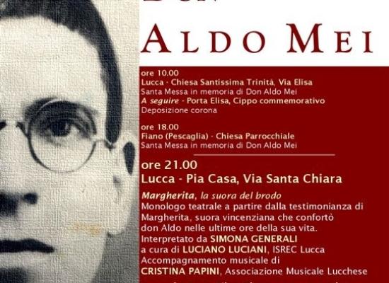 Don Aldo Mei: il 4 agosto la Messa in memoria e la cerimonia ufficiale sugli spalti delle Mura