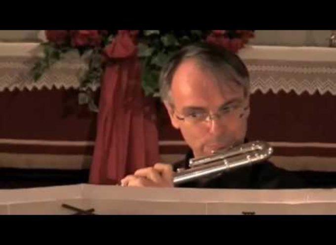 Il flauto di Gianluigi Nuccini in concerto nella chiesa di Borsigliana