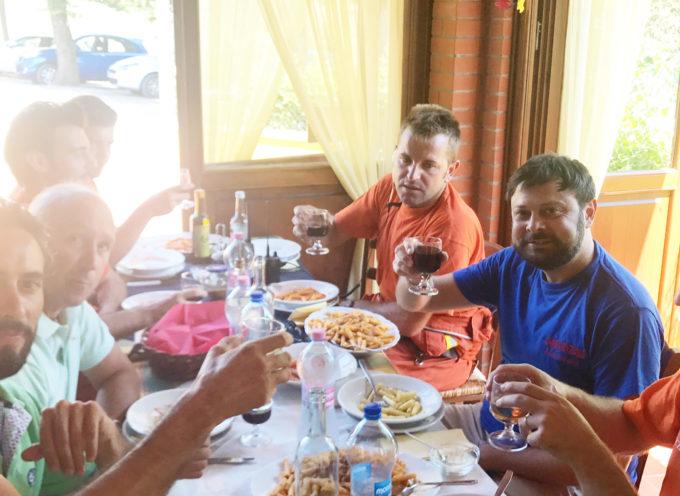 Ferragosto con pranzo a sorpresa tra i volontari antincendio per l'Amministrazione Comunale di Montecarlo