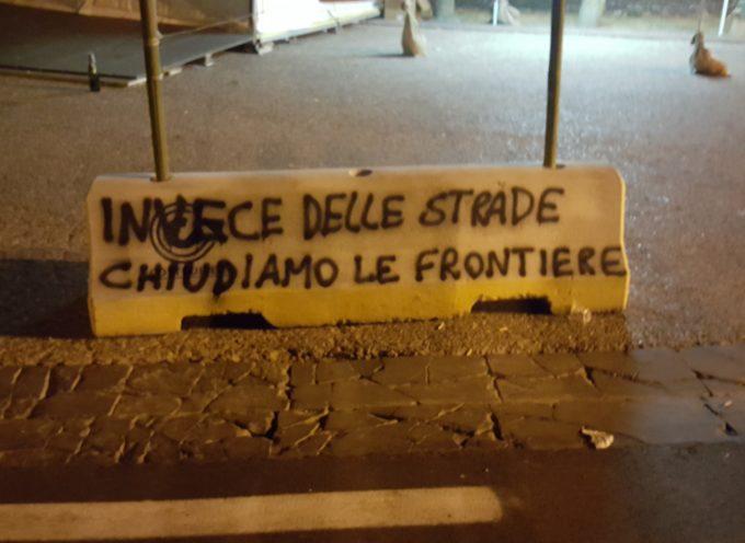 """CasaPound sulle barriere anti-terrorismo: """"Invece delle strade, chiudiamo le frontiere."""""""
