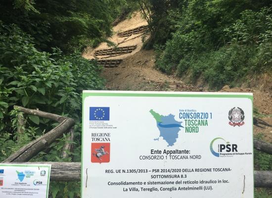 In località La Villa, a Coreglia Antelminelli, i lavori per la sicurezza idraulica li realizza il Consorzio e li paga… l'Europa