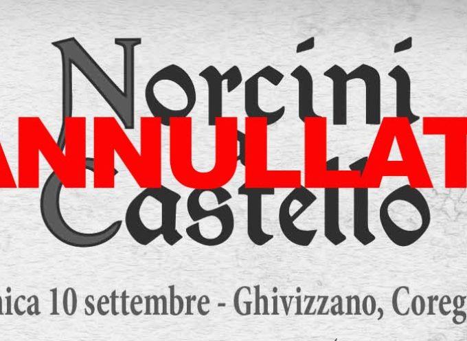 Domenica 10 Settembre Norcini a Castello annullata per maltempo