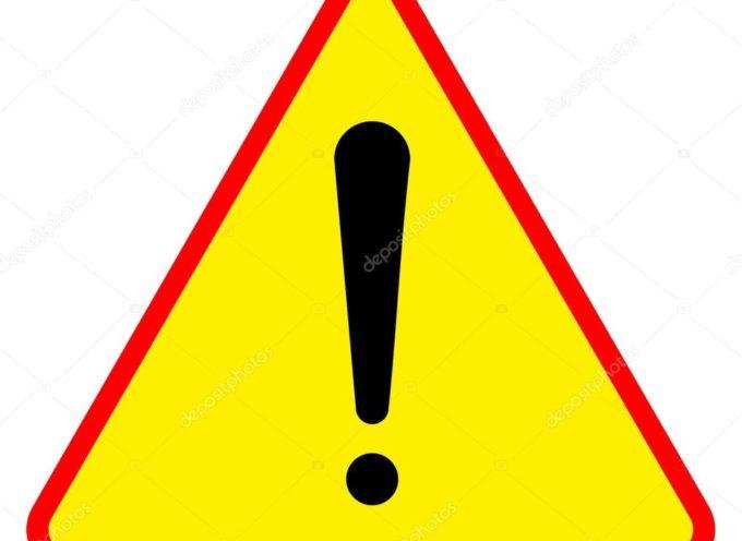 PROROGATO IL codice giallo per vento fino a domani mercoledì 22 aprile