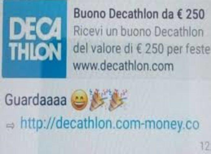 Truffe online. Arrivano anche i falsi buoni Decathlon da 250 euro.