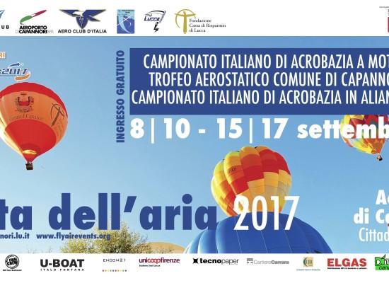 CAPANNORI TORNA LA FESTA DELL'ARIA: DAL 8 AL 17 SETTEMBRE