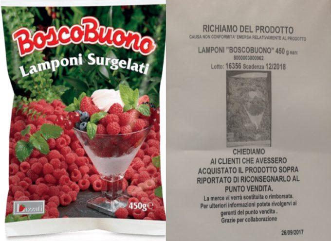 """Ritirato dai supermercati un lotto specifico di lamponi surgelati BoscoBuono:  """"Non conforme"""""""