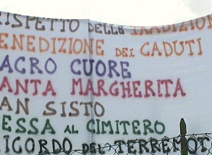 Si tolgono le lenzuola e si avvicinano le parti a Villa Collemandina tra il parroco e un comitato de parrocchiani.