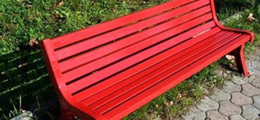 Inaugurata la 49esima panchina rossa in Valle del Serchio