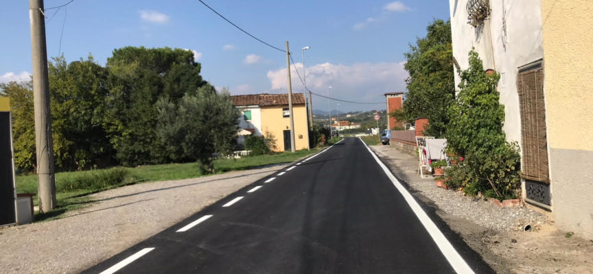 Completato nuovo ciclo di asfaltature a Montecarlo. Dalla viabilità principale si passa al quella secondaria