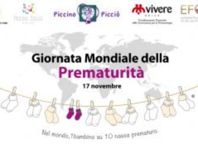 Venerdì 17 novembre ricorre la Giornata Mondiale della Prematurià: le iniziative ad Artè