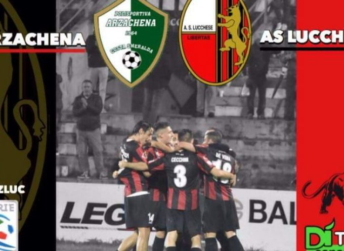 Arzachena-Lucchese 1-2: tabellino e cronaca live del match