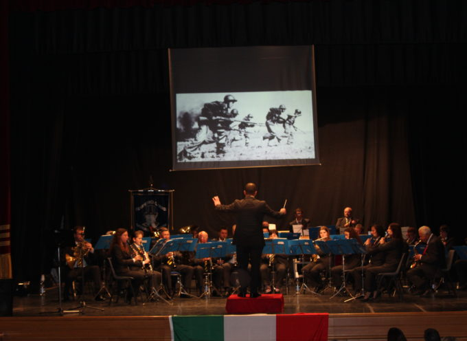 Concerto della Fialmonica G.Verdi dedicata ai caduti della 1° Guerra Mondiale sabato scorso all'Alfieri a Castelnuovo Garf.