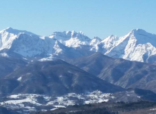 Prima neve della stagione in Garfagnana.