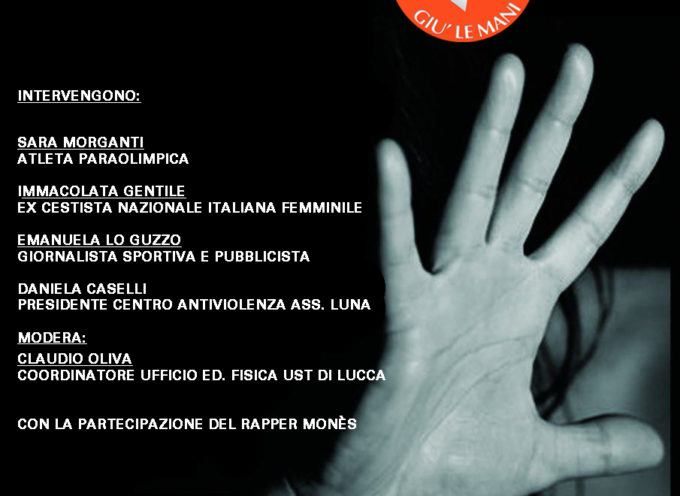 VIOLENZA SULLE DONNE – doppio appuntamento sabato 25 novembre a Palazzo Ducale con GIU' LE MANI