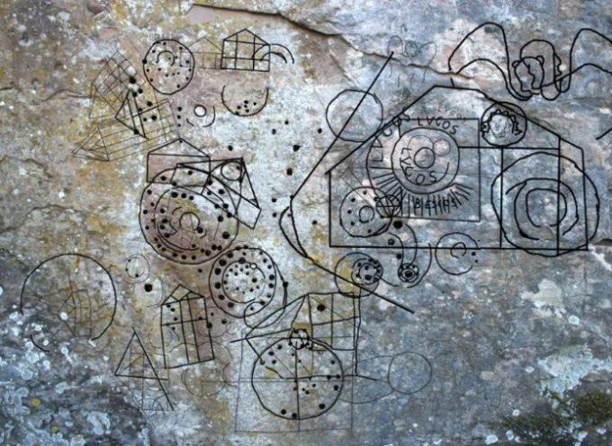 ESCURSIONE A LIMANO E LE INCISIONI RUPESTRI,  la parete dei mille colori