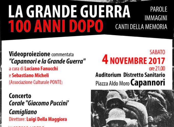 SABATO 4 NOVEMBRE IN PROGRAMMA L'INIZIATIVA 'LA GRANDE GUERRA 100 ANNI DOPO'
