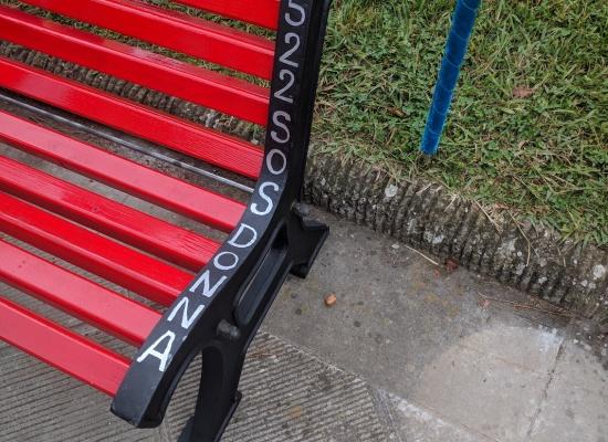 Inaugurata in piazza Felice Orsi  la panchina rossa dedicata alla violenza contro le donne