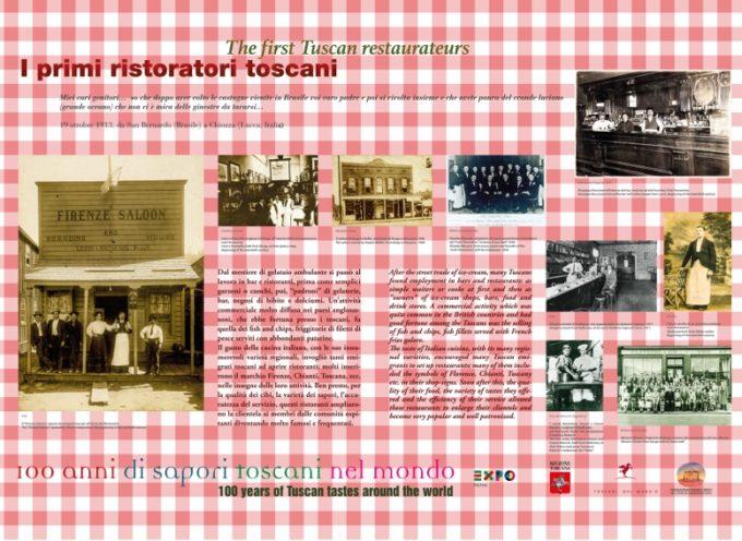 """MOSTRA """"100 anni di sapori toscani nel mondo""""  A  Barga"""